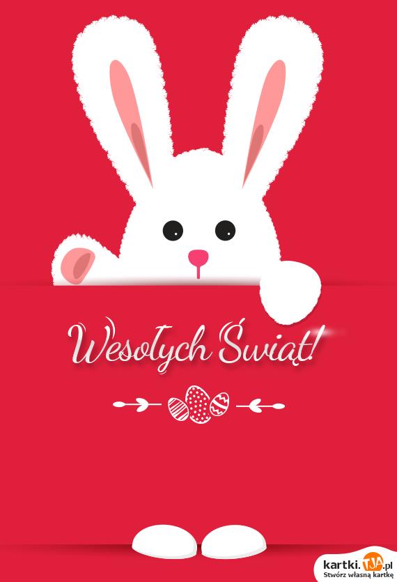 Maluśki baraneczek, co ma piękne różki,<br>stara się pilnować pisaneczek, takich z rzeżuszki.<br>Kiedy się ukrywa, wyciąga chorągiewkę i nią buja <br>i życzy wszystkim <a href=http://zyczenia.tja.pl/wielkanocne title=Wesołego Alleluja>Wesołego Alleluja</a>!
