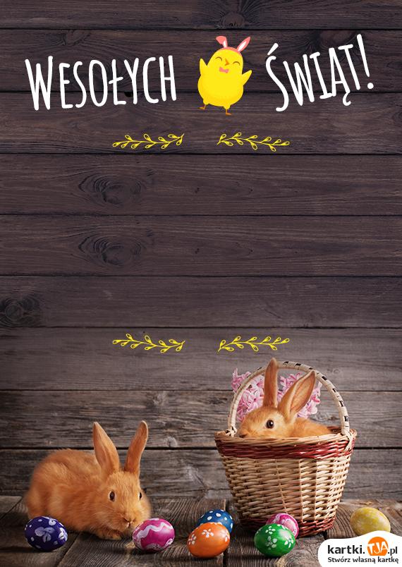 Stoi za oknem Wielkanoc,<br>o, widzę babkę rumianą,<br>o, w owsie stoi baranek,<br>o, ile barwnych pisanek,<br>o, jak czysto we wszystkich kątach,<br>o, jak mama w kuchni się krząta,<br>Wielkanoc przyszła do nas w gości,<br>zasiadła z nami,<br>o jakie te <a href=http://zyczenia.tja.pl/swiateczne title=święta>święta</a> wesołe!
