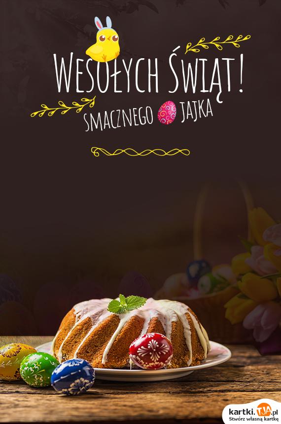 Niech pachną mazurki, <br>świeci słonko na niebie, <br>niech zajączek ode mnie <br>ucałuje Ciebie<br>życząc zdrowia, wiosny w sercu <br>i szczęścia bez liku, <br>a na znak <a href=http://zyczenia.tja.pl/swiateczne title=świąt>świąt</a> spełnionych <br>mnóstwa jajek w koszyku.