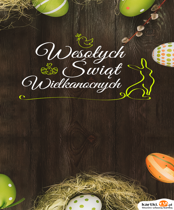 Zajączek skacze po lesie,<br>życzenia w świątecznym koszyczku niesie:<br>Niech to będą dni owocne, bo to <a href=http://zyczenia.tja.pl/swiateczne title=święta>święta</a> WIELKANOCNE!!!!